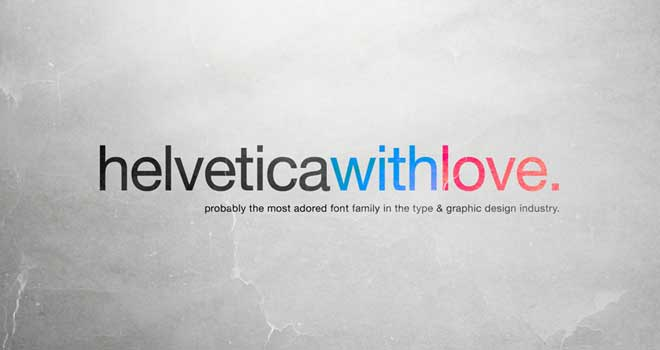 Helvetica With Love Wallpaper by allonlim