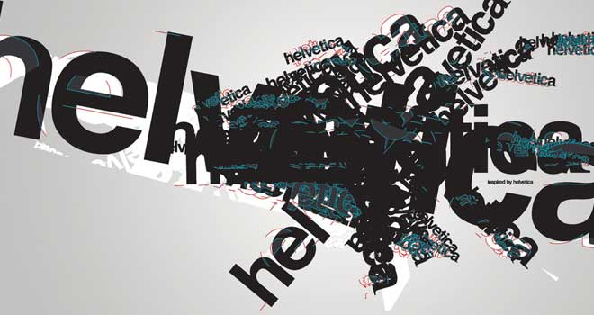 Helvetica, How I Love Thee Wallpaper by Lau Ardelean