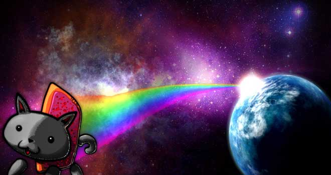 Nyan Cat Desktop Wallpaper by ~PepNess