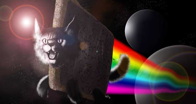Nyan Cat Timelapse by David Kingaby