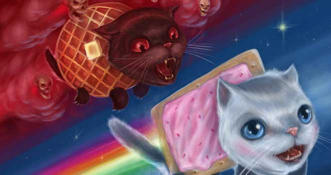 Nyan Cat Vs. Tac Nayn by J. R. Barker