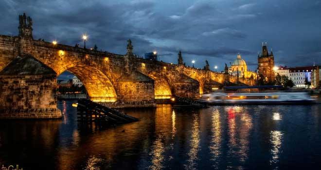 Charles Bridge At Night by pingallery
