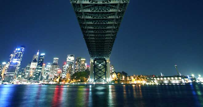 Under the Bridge, Sydney Harbour Bridge by Kris Dick