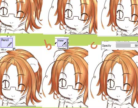 SAI Detailed Hair Coloring Tutorial by Arcky-Cano