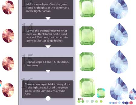 Realistic Gemstone Tutorial by *longestdistance
