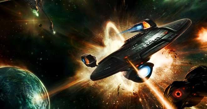 Star Trek Space Battle by Chris Legaspi