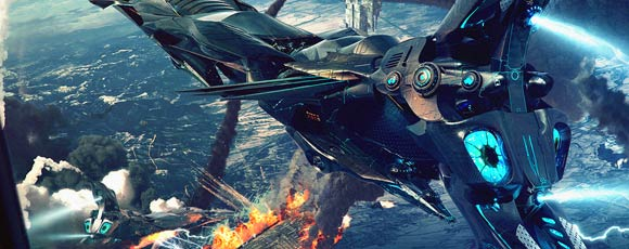 Impressive Futuristic Sci-Fi Battle Illustrations