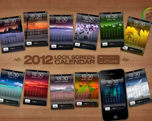 2012 iPhone Calendar Megapack by five-G