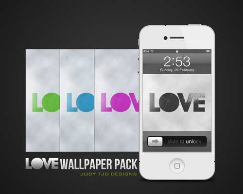 Love iPhone Wallpaper Pack by Jody Tjo