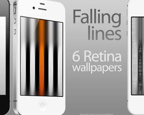 6 Retina Wallpapers - Falling Lines by KillingTheEngine