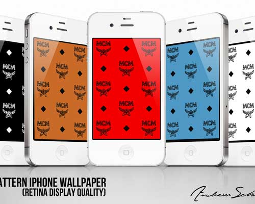 5 MCM iPhone Wallpaper Pack by Andrew Schwartz