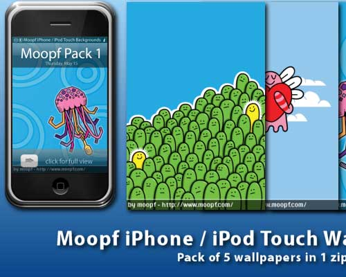 5 iPhone Wallpaper Pack by moopf