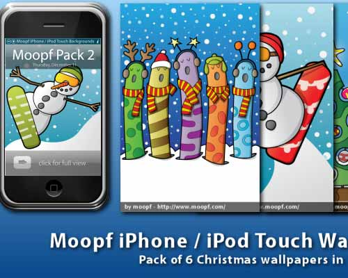 6 iPhone Wallpaper Pack - Christmas Theme by moopf
