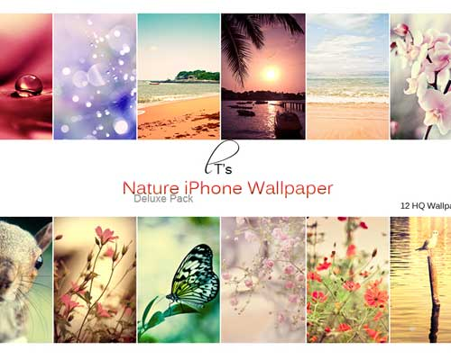 12 HQ Nature iPhone Wallpaper Deluxe Pack by *Lady-Tori