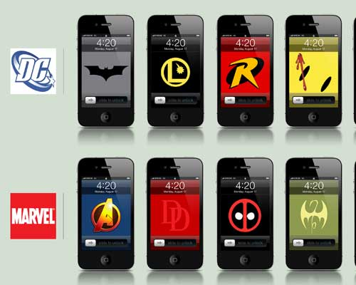 10 Comicbook iPhone Wallpapers by Arthur Lambillotte