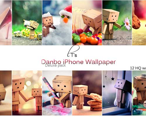 12 Danbo iPhone Wallpaper Pack by Lady-Tori