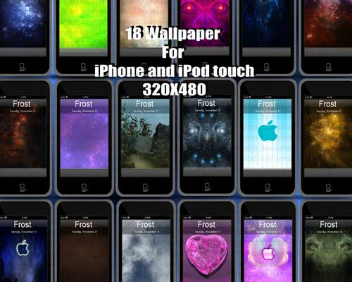 18 iPod Touch And iPhone Wallpaper Pack by FrostBo