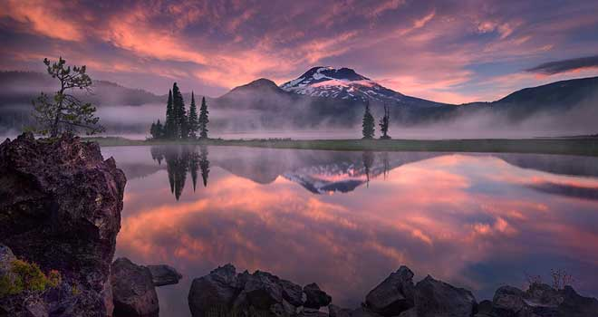 Tranquility, Sparks Lake, Oregon by Marc Adamus