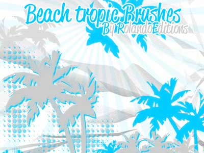 Beach Tropic Brushes by RolandoEditions