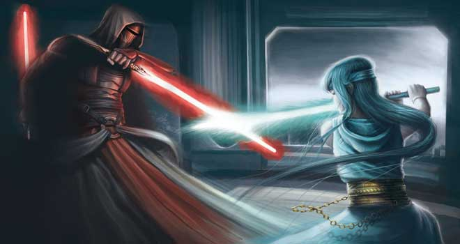 Star Wars - Revan Vs Jedi by Max Meinzold