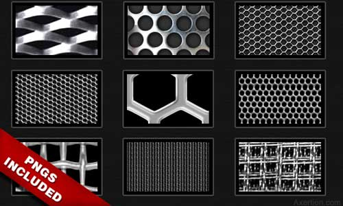 Metal Mesh Patterns Pack by Axertion