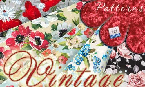 Vintage Floral Patterns by Arisha Kazimirova