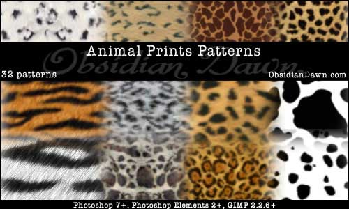 Animal Prints PS Patterns by redheadstock