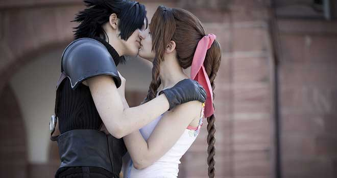 Sweet Kiss, Zack Fair and Aerith Gainsborough by Ansuchi