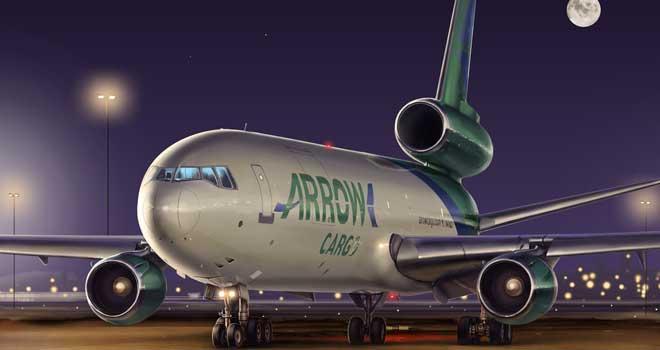 DC-10 Cargo - Aviation Art by Roman Kochnev