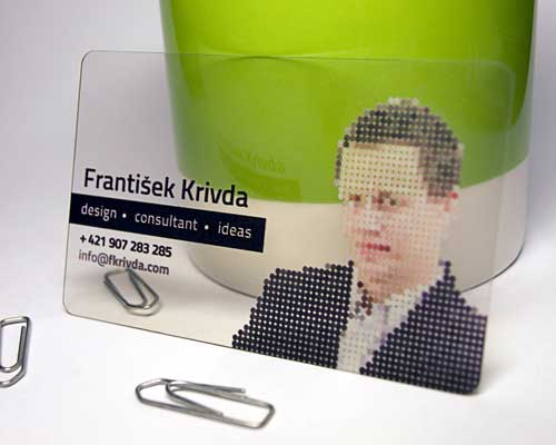 Clear Transparent Business Card by Frantisek Krivda