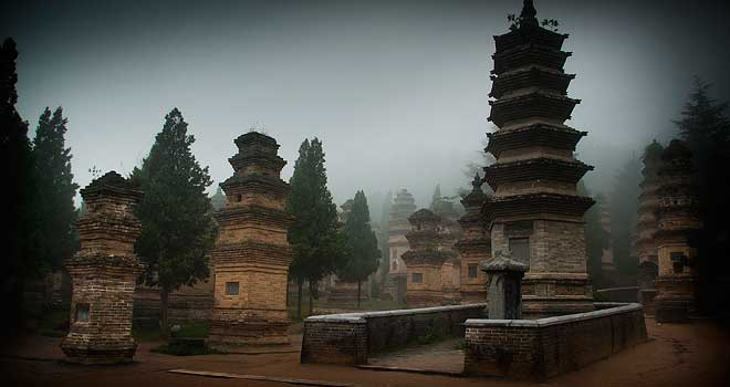 Pagoda Forest - Shaolin Temple by Paul Bassek