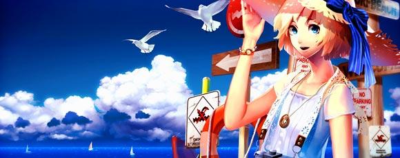 Anime Girls Summer Beach Art And Wallpapers