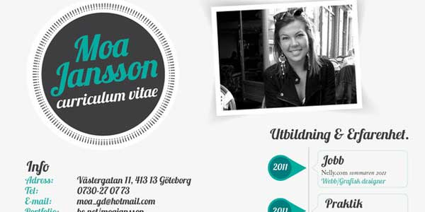 Resume by Moa Jansson