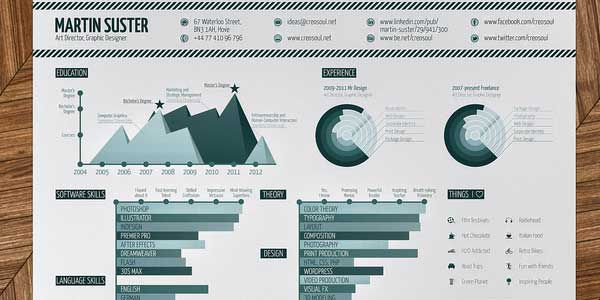 Infographic Resume by Martin Suster