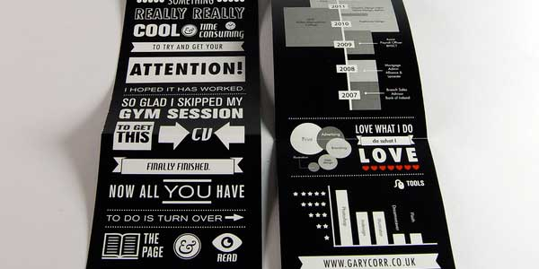 Infographic Curriculum Vitae by Gary Corr