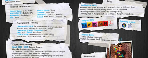 20+ Creative Resume And Self-Promotion Design