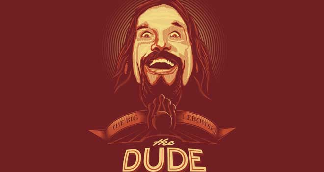 The Dude Vector Wallpaper by Jan Folgmann