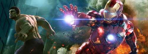 Avengers FB Cover Iron Man and Hulk by ScarletSpiders47
