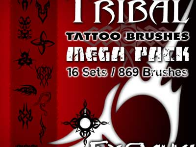 Tribal Tattoo Brushes MegaPack by Sandor Fazekas