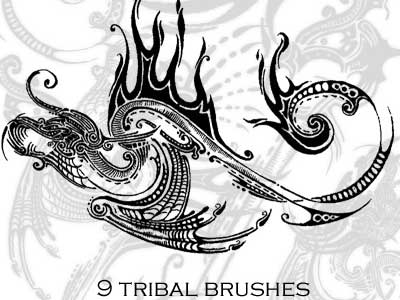 Brushes - Tribal by kkako