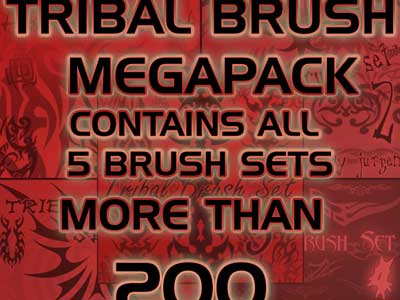 Tribal Brush Megapack by Jurgis Narvils