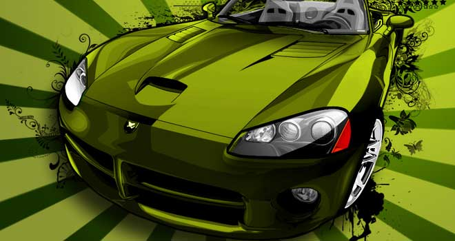 Vector Wallpaper: Dodge Viper by Abraham Bormate