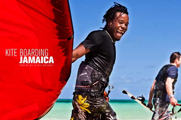 Kite Boarding, Jamaica by Silvia Mazabel