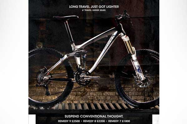 Trek Bikes National Press Ads by Steve Perry