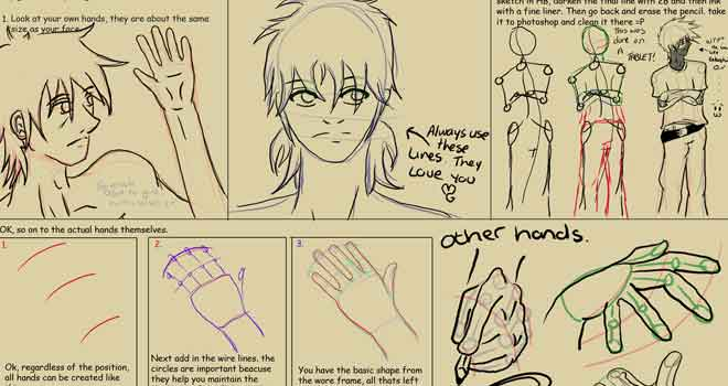 Hand And Proportion Tutorial by Morayah