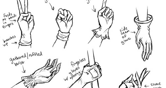 Tutorial: How to Draw Hands and Gloves by Christina Ngo