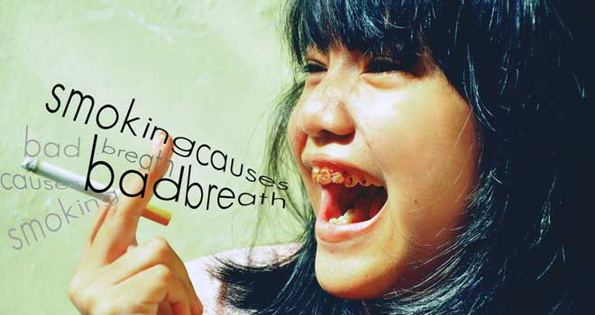 Smoking Causes Bad Breath by Veby Citra
