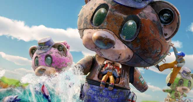 Cyclonic Salmon Hunter Machine (Big Catch Bear) by Atsushi Mishima