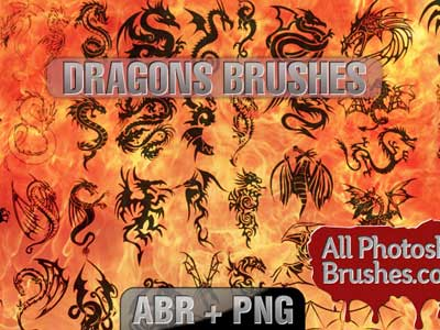 Dragons Brushes by allphotoshopbrushes