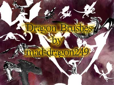 Gimp Dragon Brushes by Stephan Harry